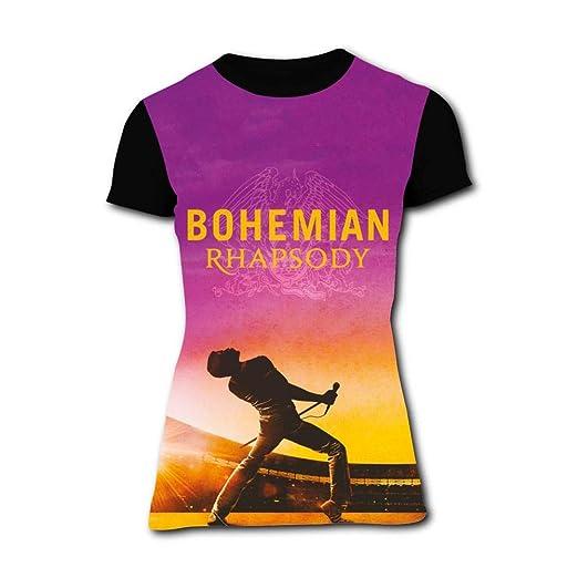 8699f4a1f Amazon.com: RETHYJU Women's Street Casual Blouse Funny Bohemian-Rhapsody  Movie T Shirt Short Sleeve Tees for Women Men: Clothing