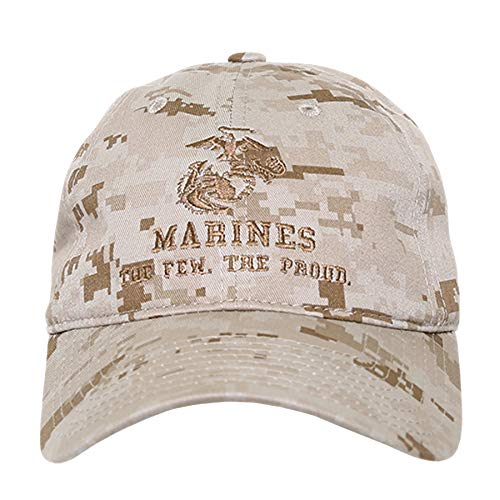 States United Corps Marine - BHFC United States US Marine Corp USMC Marines Polo Relaxed Cotton Low Crown Baseball Cap Hat (Camo 2)
