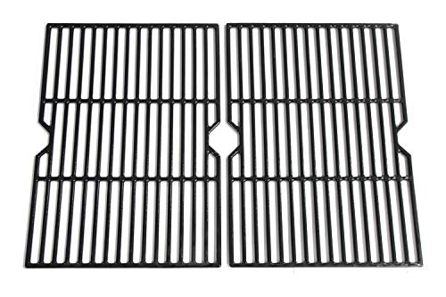 Hongso PCF652 (2-Pack) Porcelain Coated Cast Iron Cooking Grid Replacement for Select Gas Grill Models by Charbroil, Coleman, CG-65P-CI, Set of 2