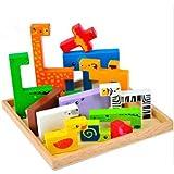 新品 ! 動物積み木パズル 高級 組み合わせパズル 木製のおもちゃ 幼児教育用品 誕生日のプレゼント 子供パズル 知育玩具 幼児教育アプリシリーズ 知識を増すおもちゃ雑貨 木制品 wanj0081