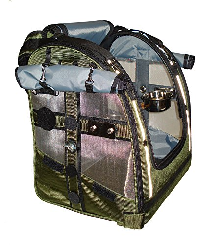 Celltei Pak-o-Bird - Olive color with Stainless Steel mesh - Small (Pak O-bird Carrier)