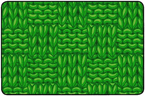 Childcraft Basketweaves Carpet, 4 x 6 Feet, Rectangle, - Basketweave Green Rug