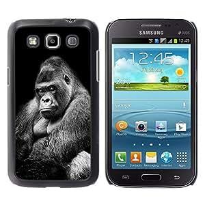 TaiTech / Hard Protective Case Cover - Ape Gorilla Black White Meaning - Samsung Galaxy Win I8550 I8552 Grand Quattro