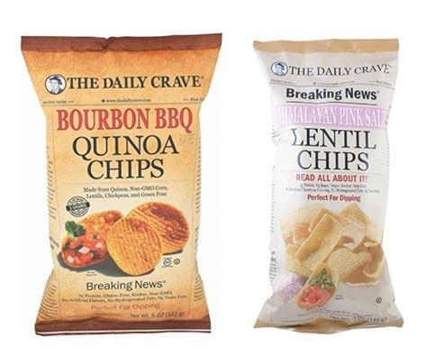 The Daily Crave Lentil Himalayan Pink Salt 5oz & Quinoa Bourbon BBQ 5oz (Variety Pack) - Himalayan Lentils