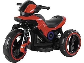 RIDE TRIKE Moto Bateria Policia Tres Ruedas 6 v.: Amazon.es: Juguetes y juegos
