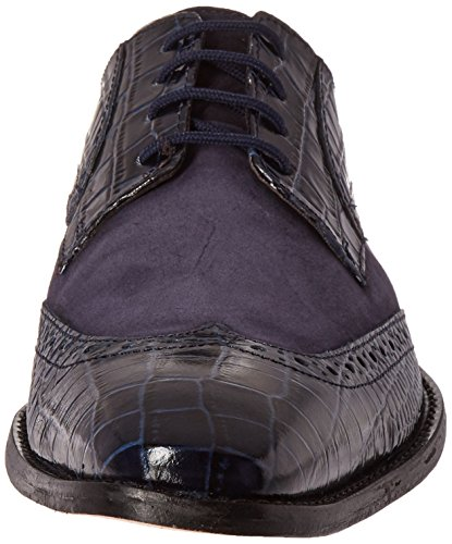 Stacy Adams Mens Arturo Cuir Semelle Wingtip Oxford Bleu Foncé