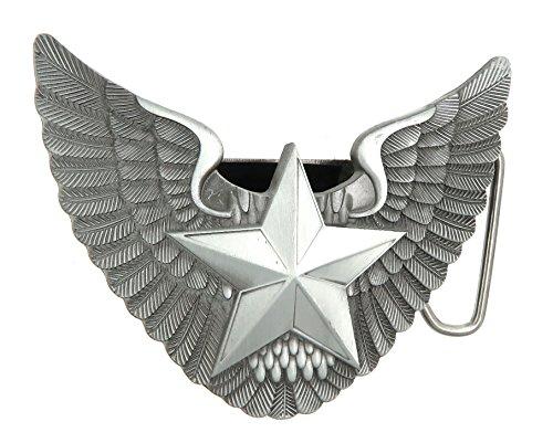 Star Lighter Belt Buckle - Angel Wings Star Lighter Holder Belt Buckle