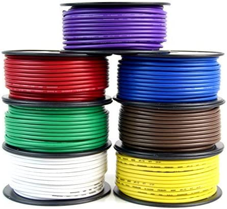 Audiopipe Trailer Wire Light Cable for Harness 7 Way Cord 12 Gauge - 100ft roll - 7 Rolls 51xcLtUCGXL