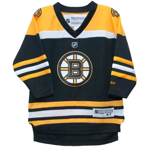 2aed8f336 hot sale Boston Bruins Reebok Home Black Child Jersey (4-7 ...