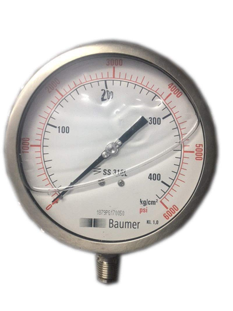 Pressure Gauge Dual Scale 0-400 BAR / 0-6000 PSI Ideal for Common Rail New