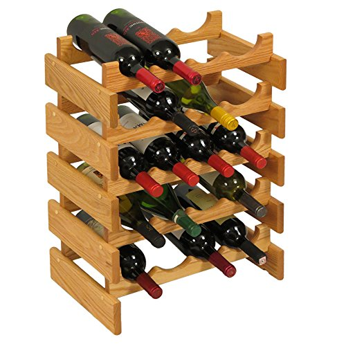 Wooden Mallet 20 Bottle Dakota Wine Rack, Light Oak