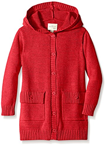 UPC 666980653034, Scout + Ro Big Girls' Hooded Button-Front Cardigan Sweater, Red, 7