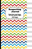 Songwriting Journal: Rainbow Chevron Cover,Lined Ruled Paper And Staff, Manuscript Paper For music Notes, Lyrics or Poetry. For Musicians, Students, ... cm), Tight binding, soft durable book cover