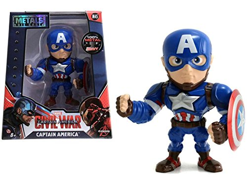 US 97560 Metals Die-Cast Collectible Toy Figure Jada Toys M47 Marvel Avengers Captain America: Civil War Movie- Black Panther: Black with Silver