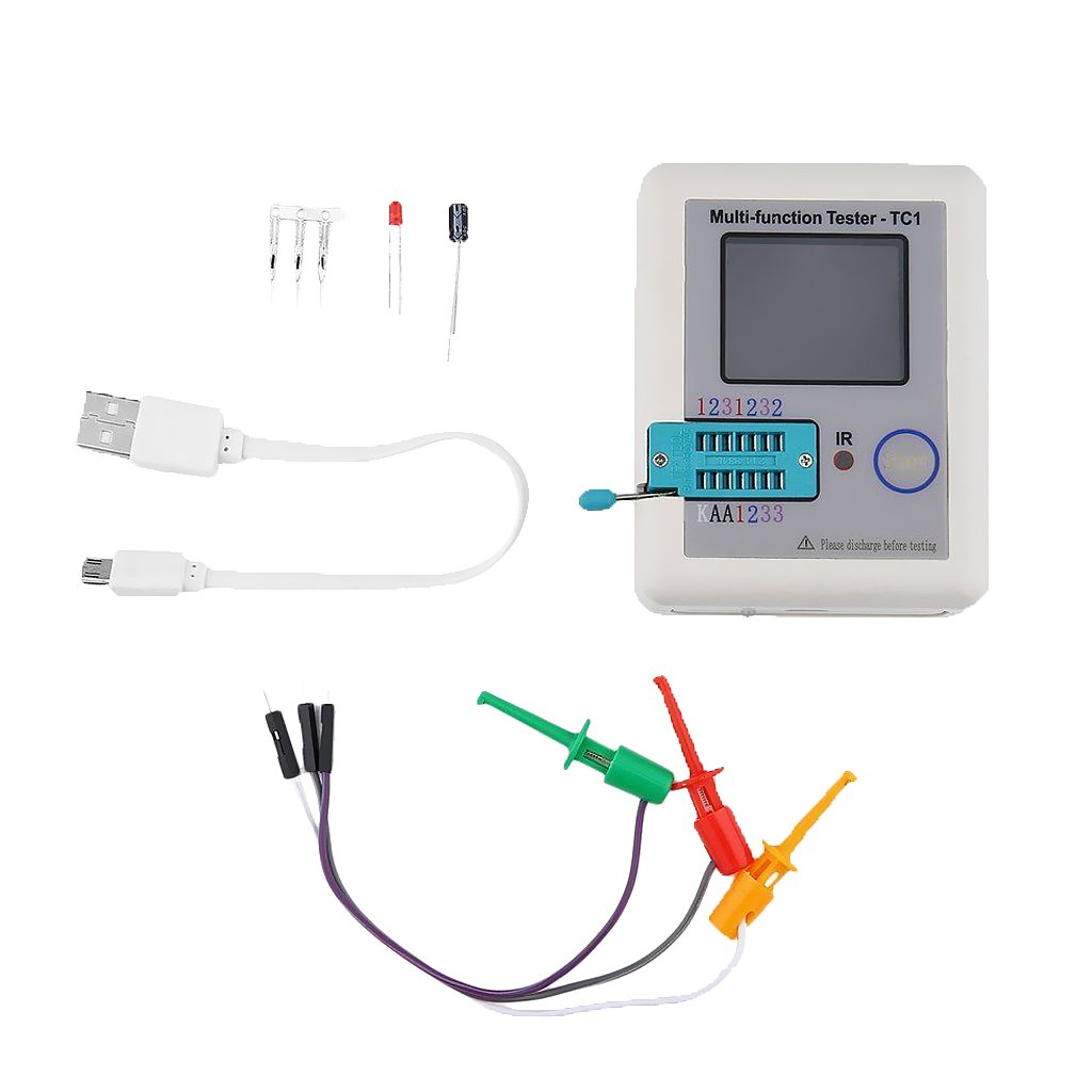 LCR-TC1 Medidor Multifuncional Retroiluminado de TFT con Luz de Fondo TFT de 1,8 Pulgadas
