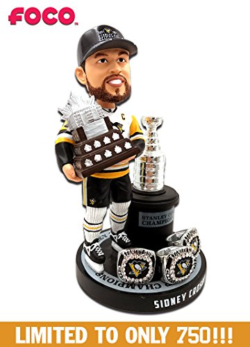 Sidney Crosby (Pittsburgh Penguins) 3X Stanley Cup Champion Ring Base Excl. Bobblehead by FOCO #750