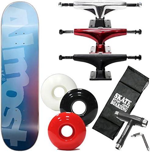 ALMOST(オルモスト) スケボー コンプリート オールモスト SIDE PIPE BLURRY HY青 7.875×31.4インチ almost skateboards スケートボード 完成品 スチール ブラックウィール