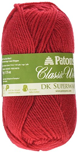 Spinrite Wool Classic - Spinrite Classic Wool DK Yarn, Red