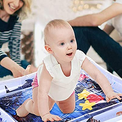 Children and Baby Inflatable Baby Water Pad Fun Activity Play Center&Toddler Outdoor Toys White: Clothing