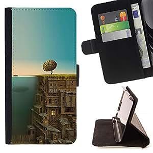 Momo Phone Case / Flip Funda de Cuero Case Cover - Ciudad Subterránea;;;;;;;; - Huawei Ascend P8 (Not for P8 Lite)