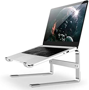 "Laptop Stand for Desk, Detachable Laptop Riser Notebook Holder Stand Ergonomic Aluminum Laptop Mount Computer Stand, Compatible with MacBook Air Pro, Dell XPS, Lenovo More 10-18"" Laptops"