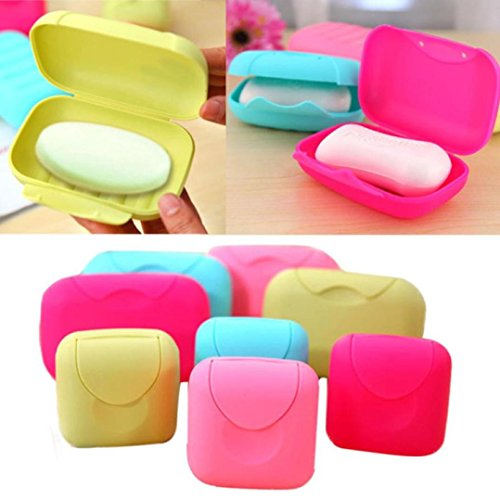 Vacally 1 Pc Bathroom Dish Plate Case Home Shower Travel Holder Container Soap Box Washroom Shower Accessory Small