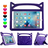 iPad 9.7 2018/2017 Case, iPad Pro 9.7 Case, iPad Air 2 Case, Huaup Kids Shock Proof Handle Light Weight Super Protective Stand Cover Case for iPad 9.7/Air 2/iPad Pro 9.7 Tablet (Purple)