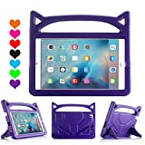 kraken ipad 2 case - iPad Pro 9.7 Case, iPad Air 2 Case,Huaup Kids Shock Proof Convertible Handle Light Weight Super Protective Stand Cover Case for iPad Air 2/iPad Pro 9.7 Tablet (iPad air 2/iPad Pro 9.7, Purple)