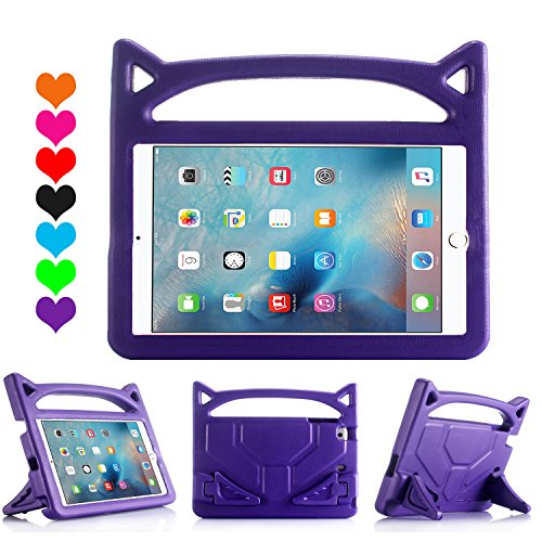 All-New Design Cartoon iPad 2 Case,iPad 3 Case,iPad 4 Case,SNOW Kids Light Weight Shock Proof Case with Handle & Stand for Apple iPad 2/3/4 (Grape Purple) (Grape Pedestal)