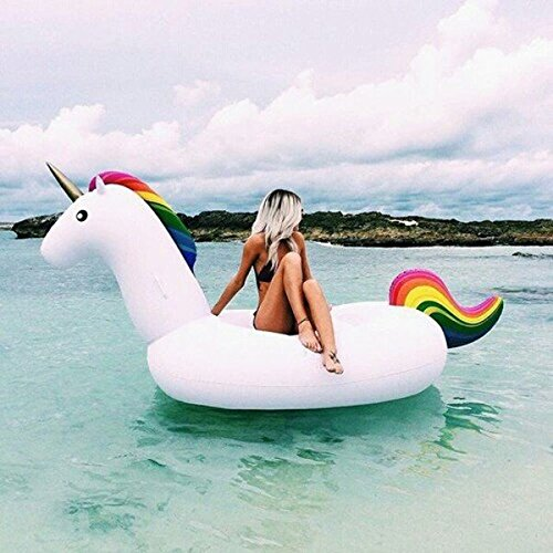 Inflatable sea unicorn and flotation pool