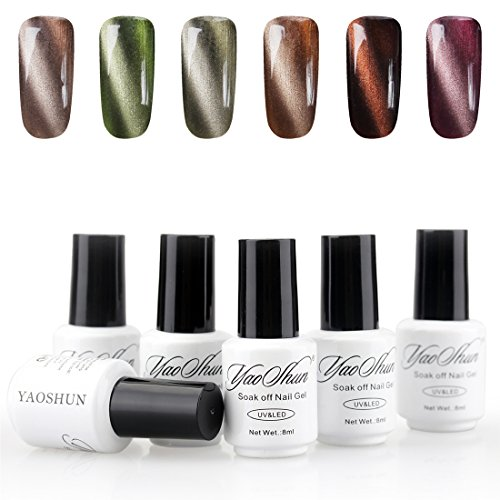 YaoShun Magnetic Gel Nail Polish Charming 3D Cat Eye Effect