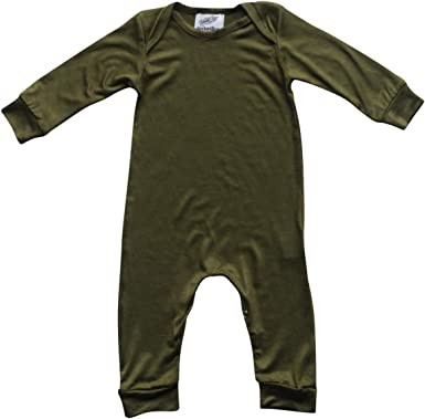 Cute Black Long Sleeve Baby Bodysuit Romper with Snaps Gender Neutral Funny Saying If You Think