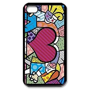 iPhone 4,4S Csaes phone Case romero britto love AI92794