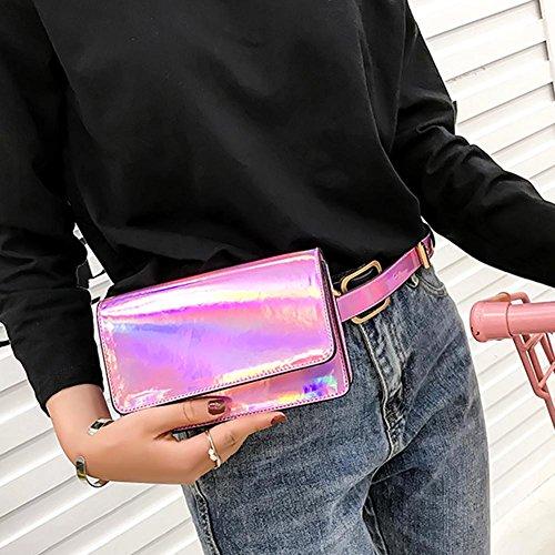 PU Bolso mujer Rosa de rosa para hombro Rosa Widewing al xI6f77Z