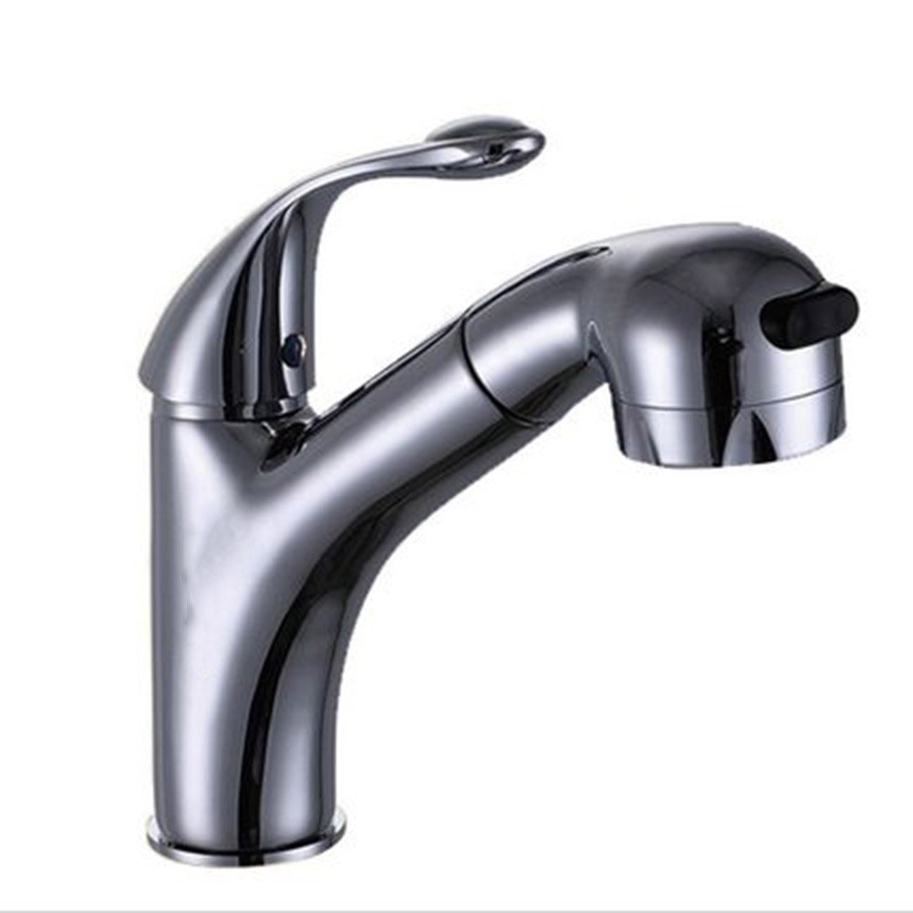 Bathroom Sink Taps YIXINY QJD-DPCL Dual Mode Faucet Single Hole Can Telescopic Hot And Cold Washbasin Faucet