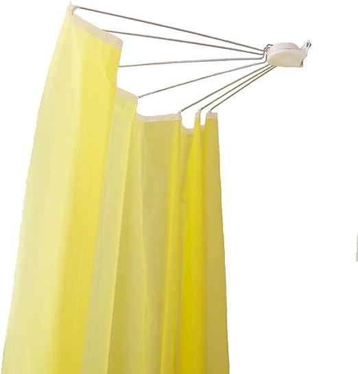 Amazon.com: BAOYOUNI Foldable Wall Mounted Shower Curtain Rod