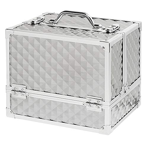 Maleta Alumínio para Manicure, 25 X 24 X 30 cm, Vertix, Prata