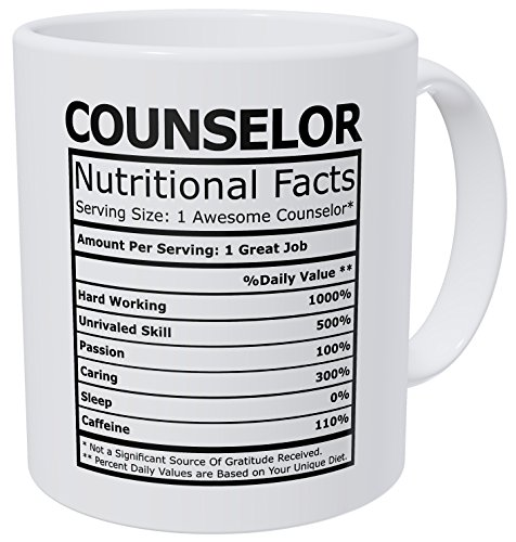 - Wampumtuk Counselor Nutritional Facts Funny Coffee Mug 11 Ounces Inspirational And Motivational