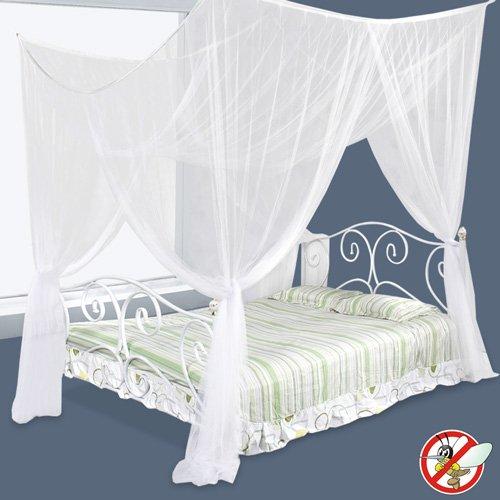 Moskitonetz Insektenschutz geeignet für Einzel- oder Doppelbetten 220x200x210cm
