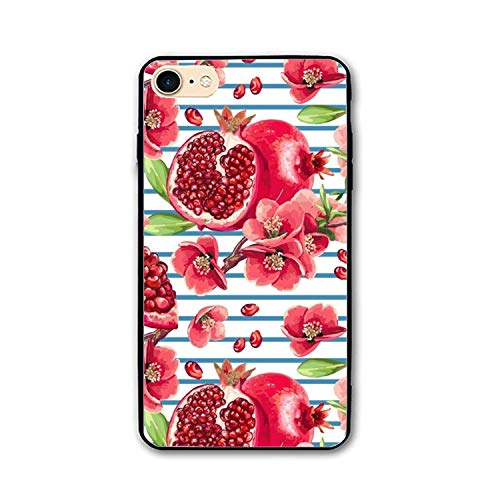 (Slim Fit iPhone 8 Case/iPhone 7 Case Fresh Pomegranate Floral Anti-Scratch Resistant Cover Case Compatible with iPhone 7/iPhone 8)