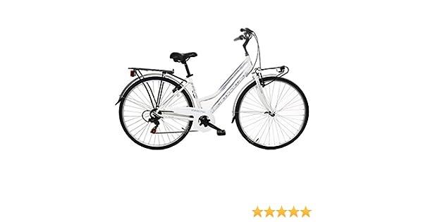 Bike Evolution - Bicicleta de ciudad de 28 pulgadas, para mujer, 6 velocidades: Amazon.es: Deportes y aire libre