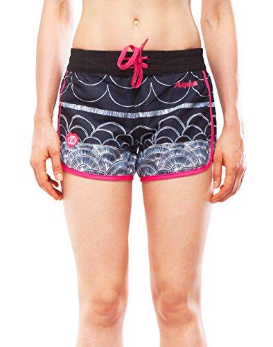 ILLUSION Printed Women's Boardshorts (X-Large, Pink)