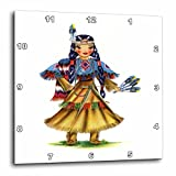 3dRose Print of Retro Native American Doll – Wall Clock, 10 by 10-Inch (dpp_203891_1) For Sale