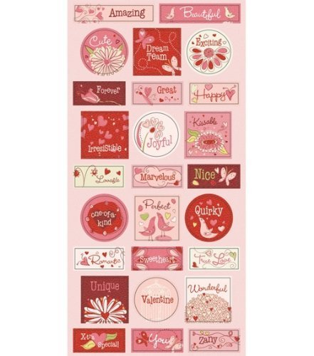 (Fiskars Cloud 9 Be Loved Chipboard Stickers 3-1/2 Inch by 9 Inch Sheet, ABC)