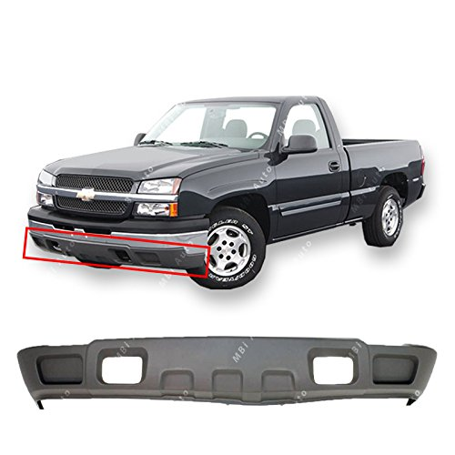 MBI AUTO - Textured, Gray Lower Bumper Valance for 2003-2007 Chevy Silverado & Avalanche w/o Fog 03-07, GM1092174