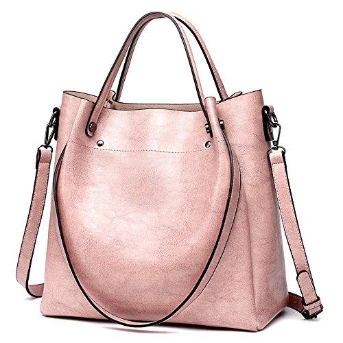 Skew Black Spanning tracolla olio Gwqgz singola cera a Fashion di Retro con tracolla Borsa Lady Borsa a Pink wAZaq6