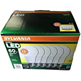 SYLVANIA Ultra 6-Pack 9W (60 Watt Equivalent) Soft W hiteDimmable A19 LED Light Fixture Light Bulbs