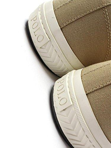 Ralph Beige Sneaker Tyrian Toile Polo Kaki Lauren Pqpgpwf