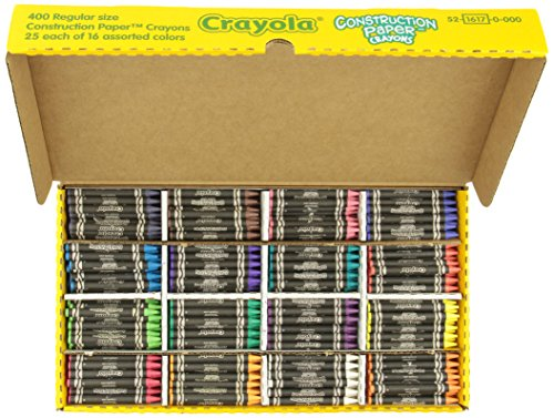 Crayola 52-1617 Class Pack Crayola Construction Paper Crayons, 25 ea. of 16 Colors, 400/Set ()