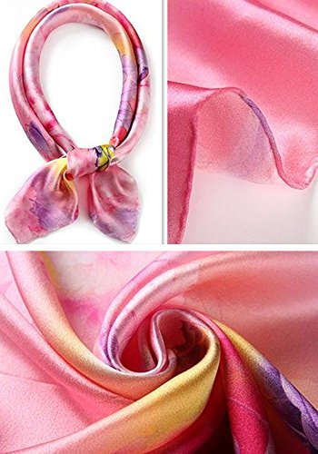Estilo Impresi para cuadradas de seda Todas grandes 5 mujer las pastoral bufandas qXx0wzPT